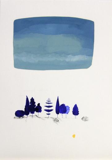 Técnica mixta sobre papel. 23 x 32,5 cm. 2016