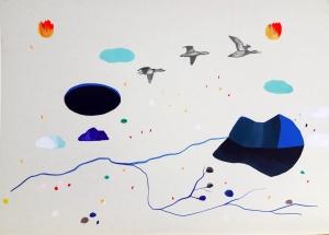 Técnica mixta sobre papel. 37,5 x 52,5 cm. 2016