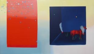 Huellas en tinieblas. (Dans le gran vide qui me sépare de moi-même.) 114 x 195 cm. 2017.
